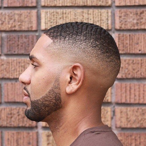 black men fades high fade waves hairstyle