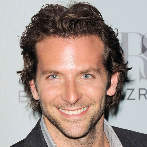 bradley cooper haircut messy layered long length hair
