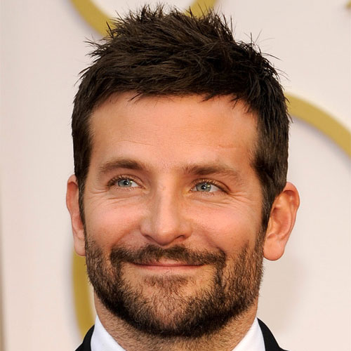 bradley cooper haircut spiky haircut with cool beard style