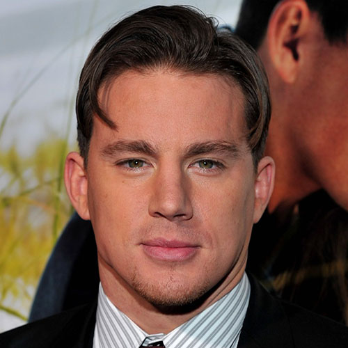 celebrity hairstyles for men channing tatum medium length hair high fade side part