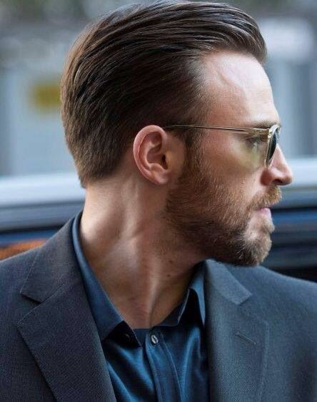 chris evans haircut slicked back celebrity hairstyles for men