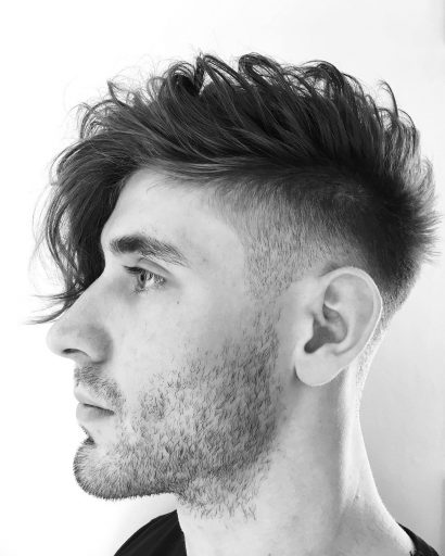 cute hairstyles for guys curly one side hairstyle