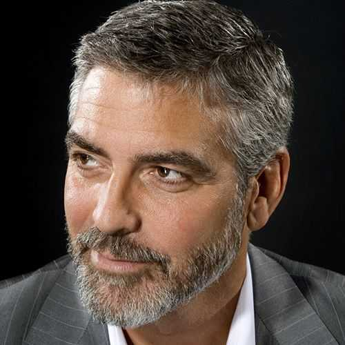 george clooney hair style with beard