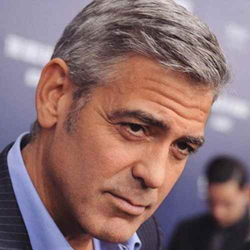 george clooney hair stylist