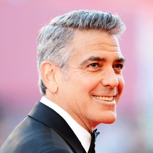 george clooney haircut cool celebrity hairstyles for men