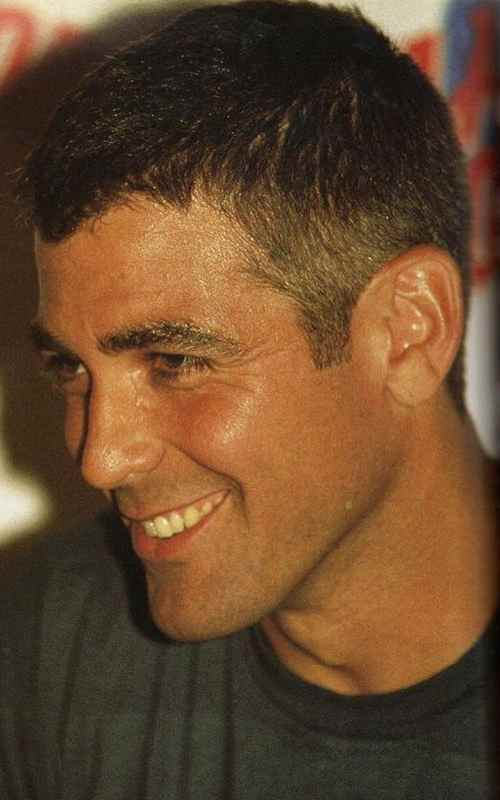 george clooney haircut low fade hairstyle