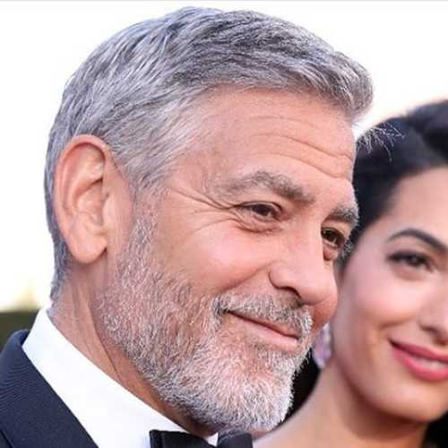 george clooney haircut side part haircut