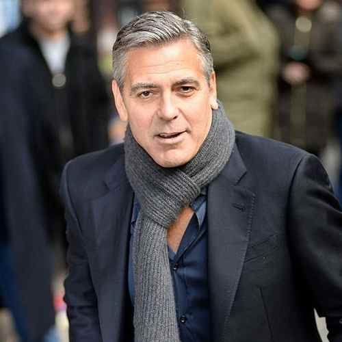 george clooney haircut slicked comb over hairstyles