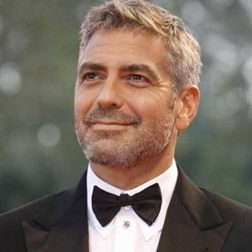george clooney haircut spiky short hair