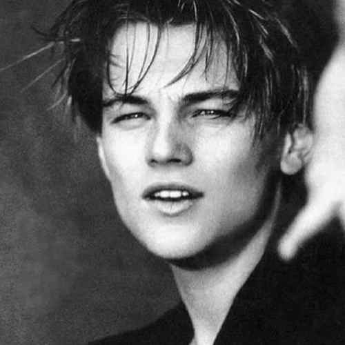 leonardo dicaprio haircut long length layers taper