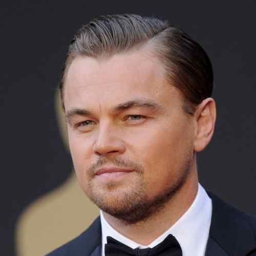 leonardo dicaprio haircut slicked back hairstyle
