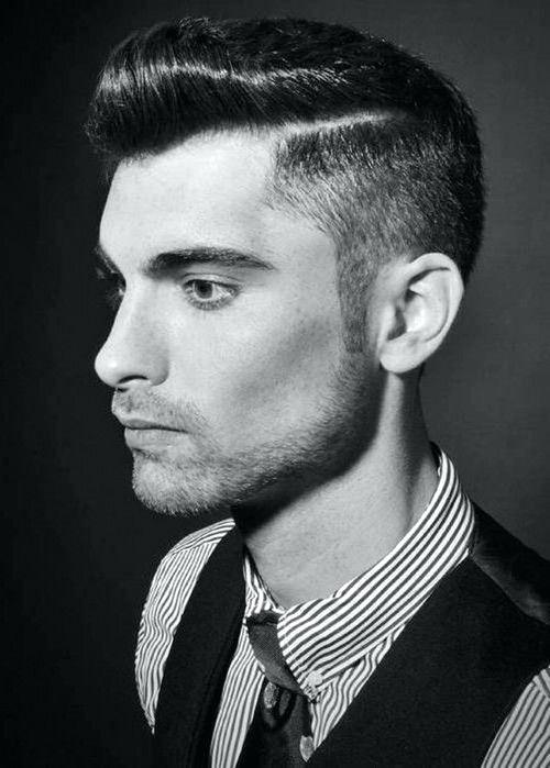 rockabilly hairstyles for men with shaved line