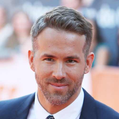 ryan reynolds grey hair grey beard