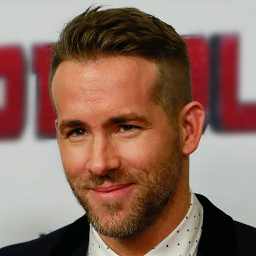 ryan reynolds haircut side part low fade haircut