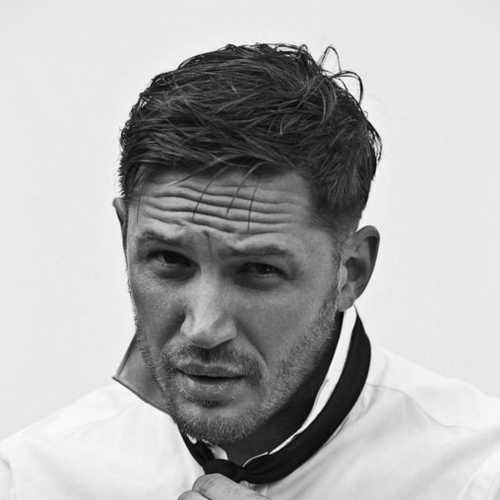 tom hardy haircut medium length messy haircut