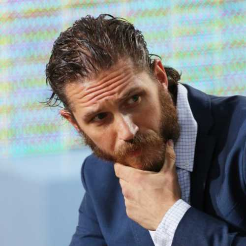 tom hardy haircut wet gel slick back hair