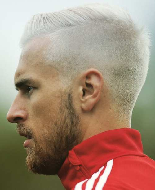 aaron ramsey white hair