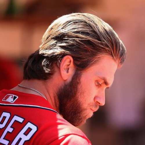 bryce harper hair long