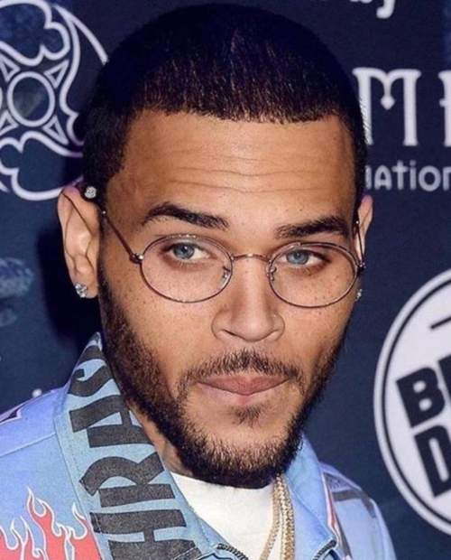 chris brown short hairstyle