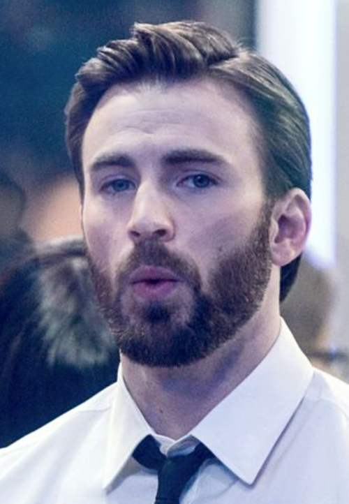 chris evans haircut new latest