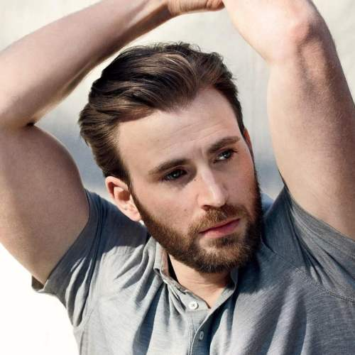 chris evans handsome hairstyle