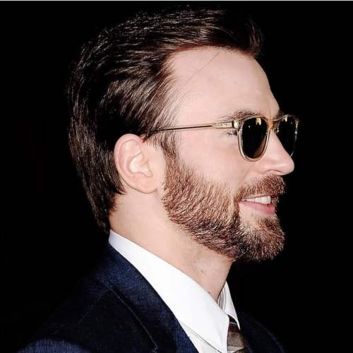 chris evans long hairstyle