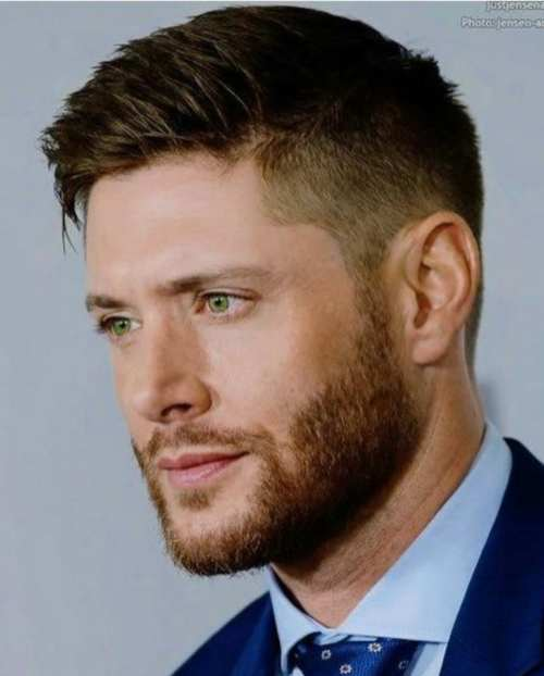 dean winchester side part haircut