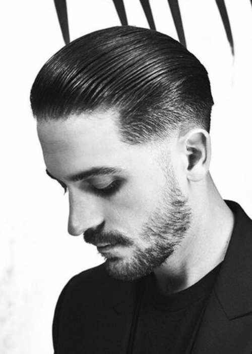 g eazy slicked back rockabilly hairstyle