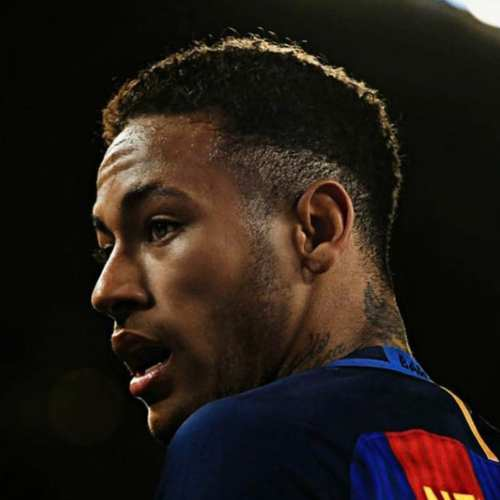 neymar high skin fade haircut
