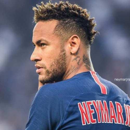 neymar mohawk curly hair