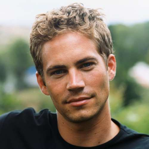 paul walker blonde curly hairstyle
