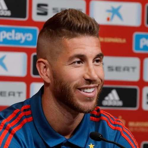 sergio ramos haircut mohawk fade side part