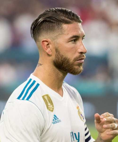 sergio ramos haircut slicked back hairstyle