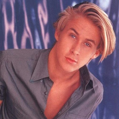 1 ryan gosling hairstyle long blonde styles