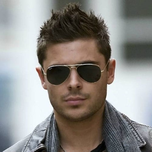 11 zac efron hairstyle Faux Hawk style spiky hair