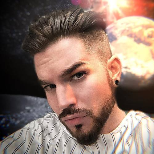 3 adam lambert high skin fade side part