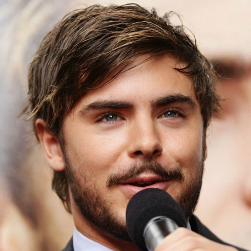 8 zac efron pretty long hairstyle thin hair