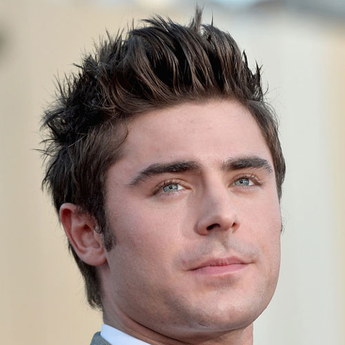9 Zac Efron haircut Textured spiky hairstyle