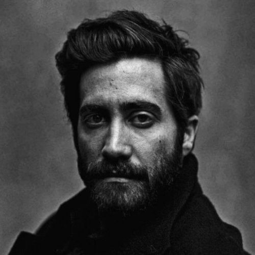 jake gyllenhaal haircut classic look with beard