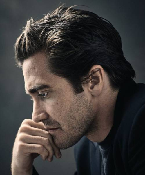 jake gyllenhaal haircut thin hair layered