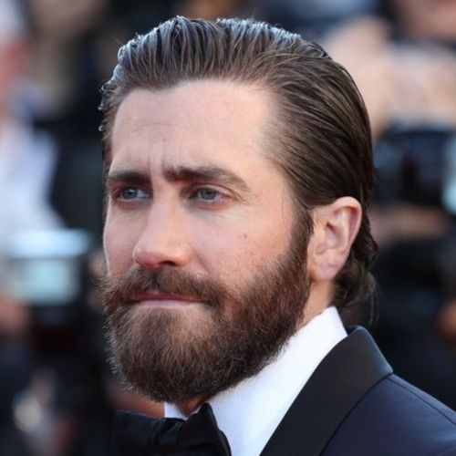 jake gyllenhaal high slicked back hairstyle