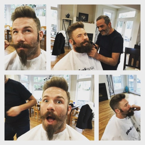 Julian Edelman hairstyle in barber shop how to style new hairstyle