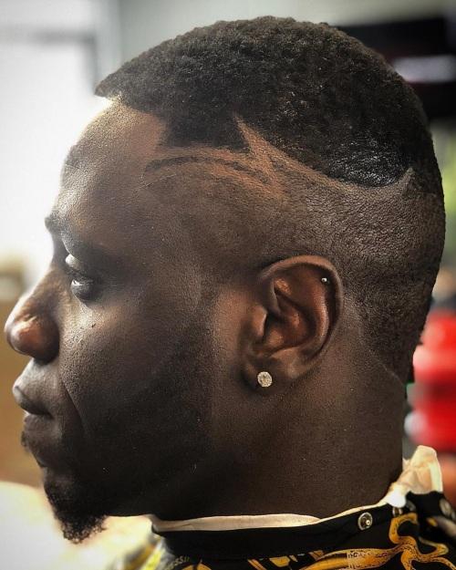 burst fade razor designs line up hairstyle