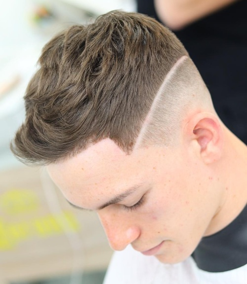 double line up haircut