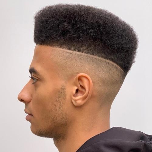 high top fade hard razor line up haircut