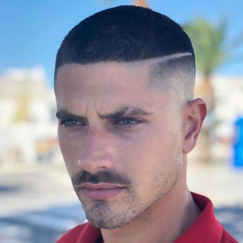 line up haircut short buzz cut