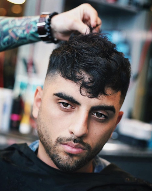 mens hairstyles wavy hair thick