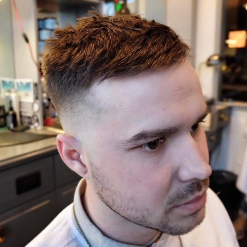 short length wavy hair mens haircut