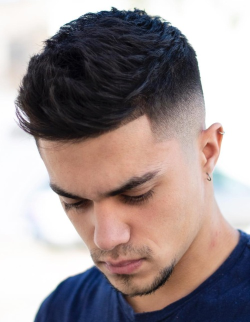 short quiff line up haircut shadow fade