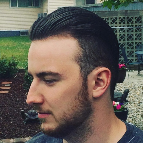 slicked back fade undercut haircut latest